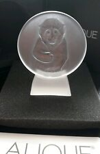 Lalique Clear Monkey Paperweight 1049040 Presse-Papiers Singe . Brand New in Box