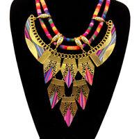 Fashion Women Tassel Pendant Bohemian Necklaces Vintage Ethnic Boho Jewelry