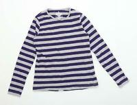 Pepperts Boys Striped Blue T-Shirt Age 10-12 Years