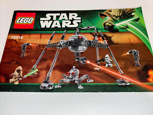 Lego Star Wars Homing Spider Droid 75016 No Minifigures
