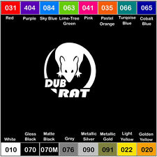 DUB RAT Vinyl Decal Sticker Window Car Truck VW - 6 inch