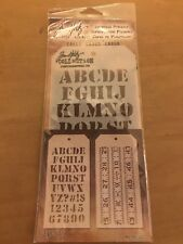TIM HOLTZ COLLECTION Set of 2 Layering Stencil CARGO & MEASURED THS012 THS001