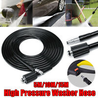 5/10/15M Pressure Washer Hose Quick Connect For Black and Decker PW1600 PW1700