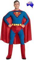 Mens Adult Superman Super Hero Man of Steel Halloween Fancy Dress Party Costume