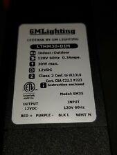 GM Lighting EM35 LED Dimmable Power Supply Transformer/Driver, LTHM30-DIM 12VDC
