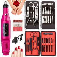 Nail File Art Electric DRILL File Acrylic Manicure Pedicure Portable Machine Kit