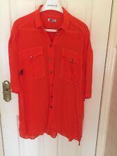 Orange Sheer Jag Shirt Size (S)