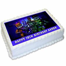 Five Nights at Freddys A4 Edible Icing Cake Topper