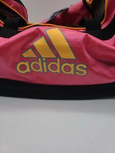 NWT Adidas Defence Medium Duffel Pink Black and Orange Sport Gym Carry 24x12x12