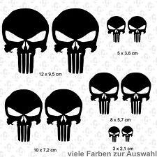 10  x Punisher Aufkleber Set JDM DUB Auto Totenkopf Skull OEM Shocker Bike