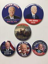 "6 2020 Vice President Joe Biden for President 2.25"" 2.5"" 3"" Button Gift Set Pins"