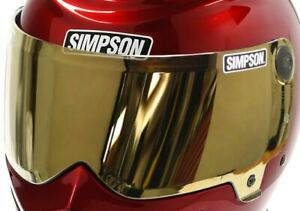 SIMPSON GOLD VISOR FOR OUTLAW 2 UK DELIVERY MOTORCYCLE M-XXL 2017