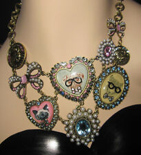 Betsey Johnson Critters & Coins Statement Bib Necklace