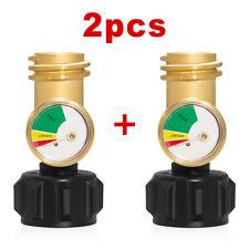 2PCS Propane Tank Gauge Gas Pressure Meter Solid Brass Rv Propane Gas Grill BBQ