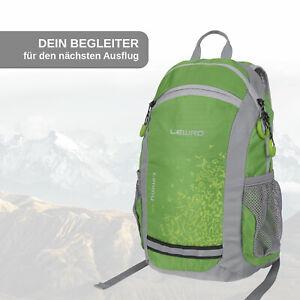 Lewro Kinderrucksack Timmy grün Outdoor Rucksack 8 Liter mit Brustgurt