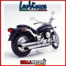 scarico completo leovince yamaha xvs 650 drag star 1998- silvertail k02 acciao c