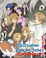 DVD Anime Natsume Yuujinchou Season 1-6 Series (1-75 End) + Movie Eng Subtitle