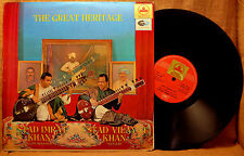 INDIA IMPORT USTAD IMRAT KHAN USTAD VILAYAT KHAN THE GREAT HERITAGE LP 1966