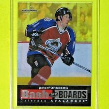"""PETER FORSBERG   '96-97  """" BASH THE BOARDS 2338/3500 """" Acetate 8 of 10 Avalanche"""