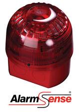 Alarmsense Bi-Wire CABLATO ALLARME INCENDIO spazio aperto Sirena con Visual beacon-Rosso
