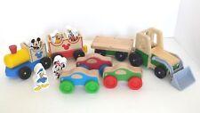 Various Melissa & Doug Wood Toys Mickey Mouse Dinsey Train / Farm Tractor / Cars