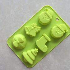 Christmas Santa Cake Soap Mold Silicone Mould For Candy Chocolate Jelly pudding