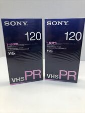 Sony T-120 Pr Blank Video Cassette Tapes Vcr Camcorder Professional Sealed