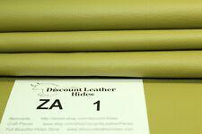 Beautiful Envy Green Leather scrap remnant Za1