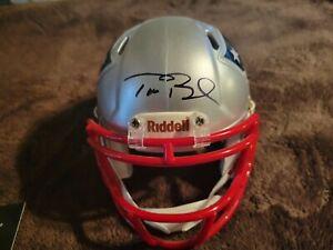 Tom Brady Signed Patriots Mini Helmet W/COA