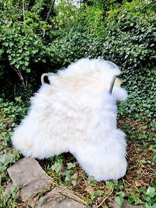 XL British Cream Sheepskin Rug - A++ 95cm by 65cm (2794)