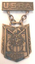 1939 USRA JUNIOR LEAGUE HAND GUN MARKSMAN Bronze Medal #5082