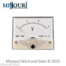 DC 15 VOLT Analog Meter for Wind Turbine Generators and Solar Panels