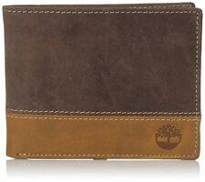 Timberland Men's Hunter Color-Block Passcase Brown Tan Mens Wallet D87242/81