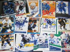lot of 15 SIGNED autographed VANCOUVER CANUCKS crds w/ BRAD MAY CHRIS TANEV