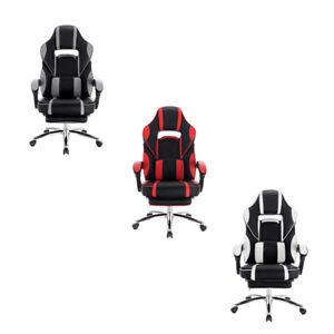 Bürostuhl Gaming Stuhl mit Armlehne Kopfstütze Racing Stuhl höhenverstellbar