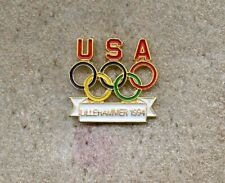 NOC USA 1994 Lillehammer OLYMPIC Team Games Pin !!!