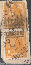SBZ MiNr 175 V Bezirkshandstempel 27 LEIPZIG W35 Typ a Briefstück BPP Dr. Böheim