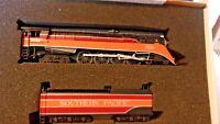 HO Scale Bachmann 4-8-4 Southern Pacific Daylight Steam Locomotive #4449, BNOS