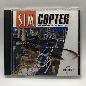Sim Copter: Fly Missions In The Metropolis PC Game 1998 Windows 95 CD-ROM Maxis