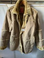 Just Win Vintage Style Sherpa Long Coat. US Mens Large