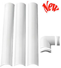 """TV Wire Organizer 2.25"""" Flat Screen Cable Cord Hide Holder Cover System White"""