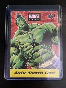 2020 UD Marvel Ages Hulk Sketch 1/1 Faustino