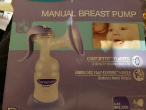 Lansinoh Manual Breast Pump with Let-Down and Expression Modes Stimulation NEW
