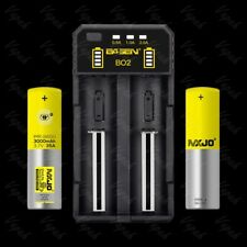 Basen BO2 USB Charger/ 2x MXJO 18650 3000mAh/35A Rechargeable Battery/Tube Cases