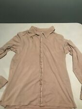 Armani Exchange A/X Mens Dress Shirt Casual Also Soft XL Beige Fancy