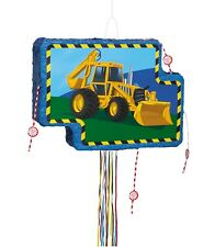 Construction Digger Party Pull String Pinata | Game | Hanging Decoration