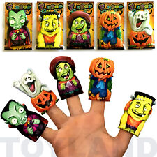 5 x HALLOWEEN FINGER PUPPETS PUMPKIN GHOST DECO CHILDRENS TOY PARTY BAG FILLERS