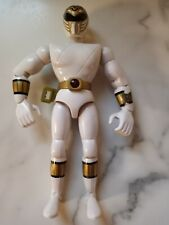 "Vintage Bandai 1995 Mighty Morphin Power Rangers 8"" Talking Figure White"