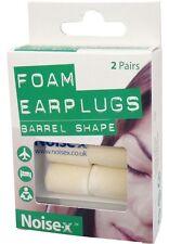Noise X Foam Barrel Earplugs  2 Pairs Ear Plugs Sleeping Flying Working