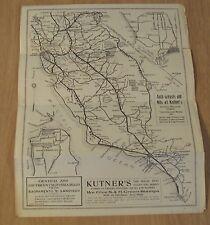 "Antique ca 1910's STORE Advertising Flyer/ROAD Map~""KUTNER'S""~Fresno CA~"